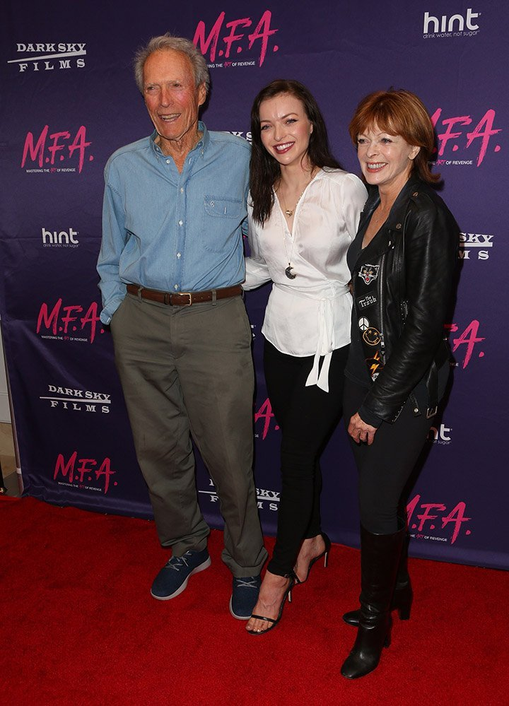 Clint Eastwood, Francesca Eastwood, and Frances Fisher. I Image: Getty Images.