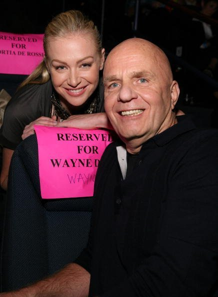 Portia de Rossi and author Dr. Wayne W. Dyer at the Lloyd E. Rigler Theater. | Photo: Getty Images