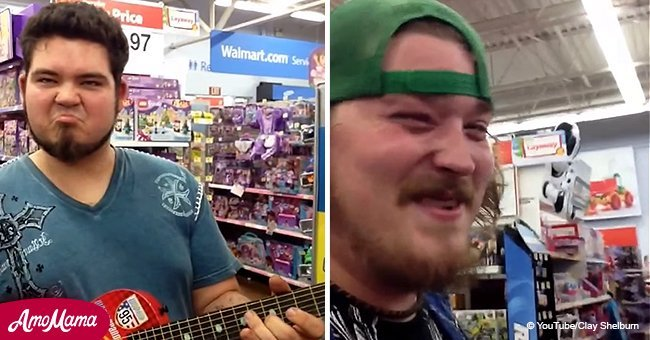 Guy finds toy guitar and rocks Walmart with incredible song