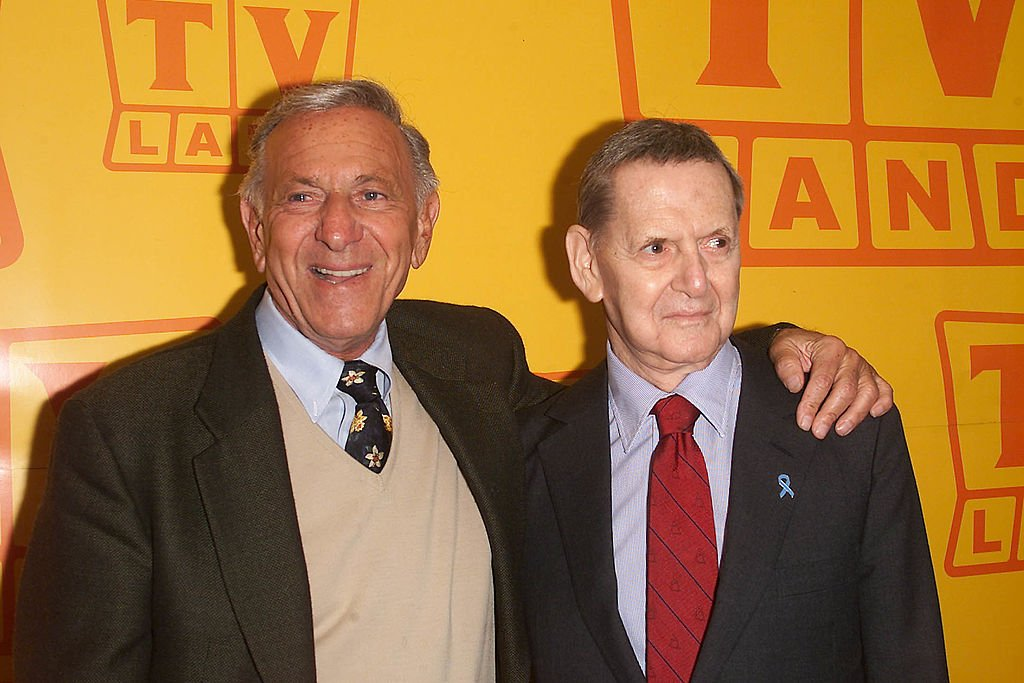 Jack Klugman and Tony Randall at the TV Land fifth anniversary celebration in New York City on 04/25/2001   Photo: Getty Images