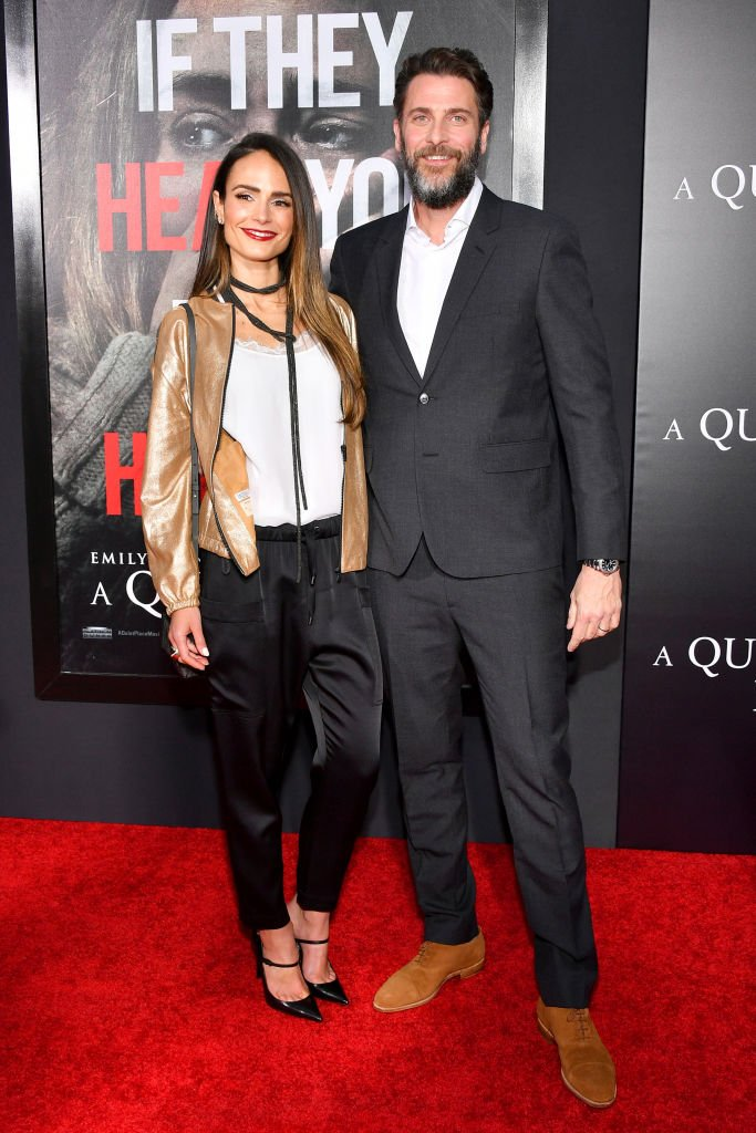 "Jordana Brewster and Andrew Form attend the ""A Quiet Place"" New York Premiere at AMC Lincoln Square Theater on April 2, 2018 