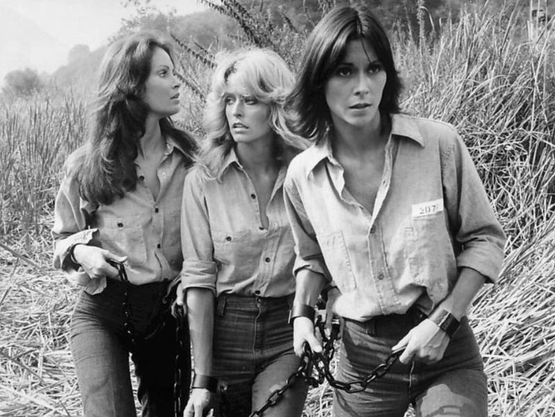 """Photo of the original cast of the television series """"Charlie's Angels:"""" Jaclyn Smith, Farrah Fawcett, Kate Jackson. 