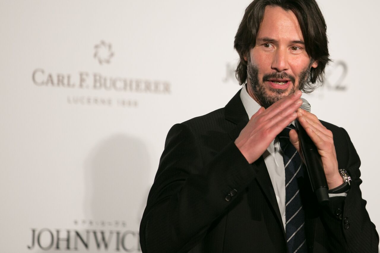 Keanu Reeves at a Carl F. Bucherer event. | Source: Getty Images