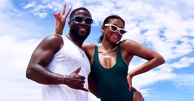 Kevin Hart's Wife Eniko Shows off Her Growing Baby Bump While Sunbathing near Pool