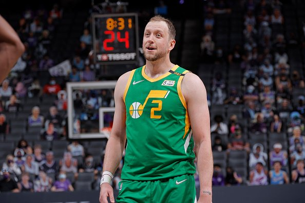 Joe Ingles on May 16, 2021 at Golden 1 Center in Sacramento, California.   Photo: Getty Images
