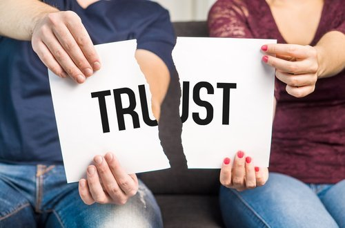 Broken trust being illustrated. | Source: Shutterstock.