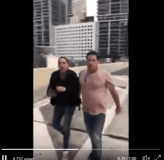 The man who confronted the boys while waving a gun and screaming racist epithets| Screenshot: https://twitter.com/BillyCorben/status/1087849017831235586
