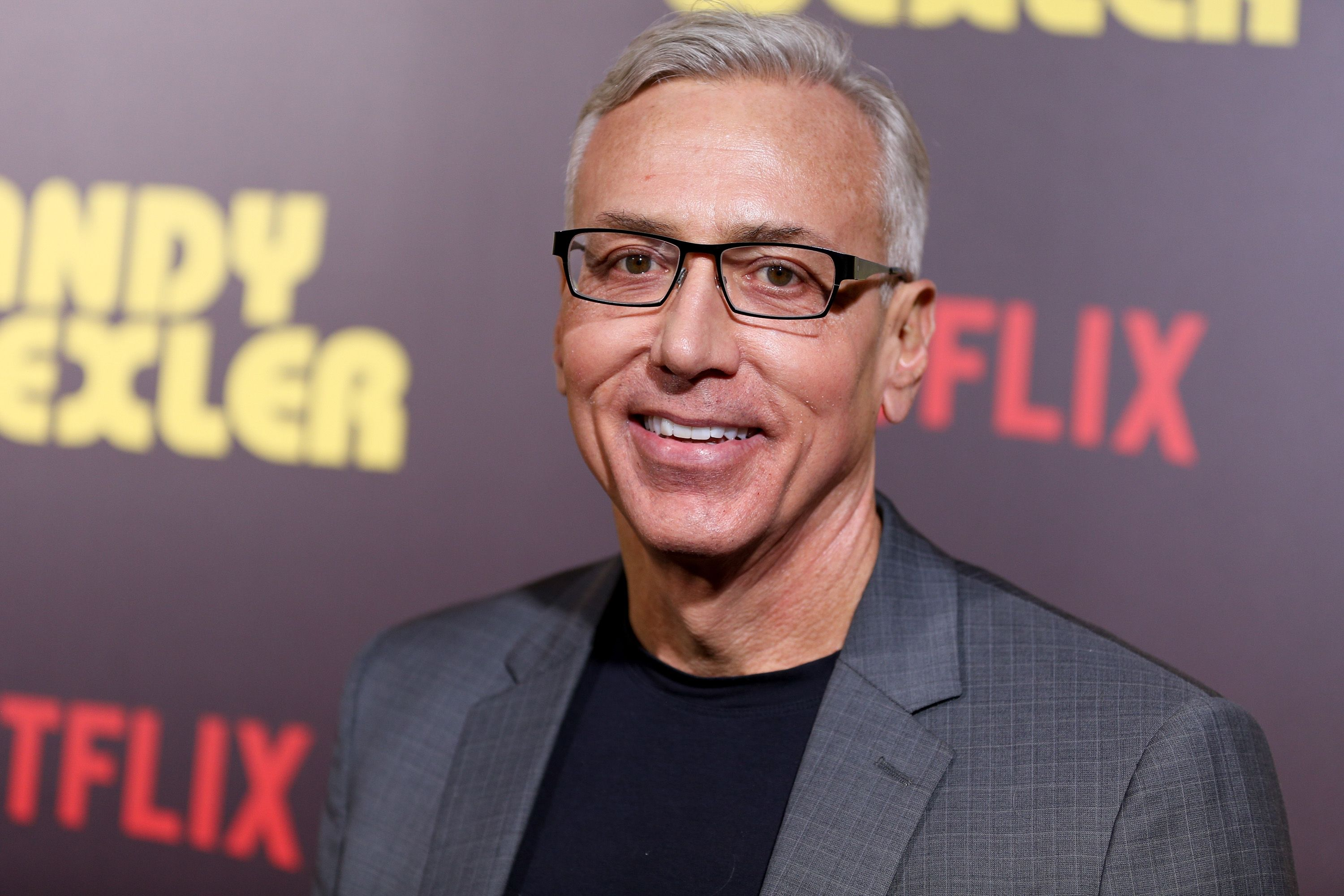 """Dr. Drew Pinsky attends the premiere of """"Sandy Wexler"""" at the ArcLight Cinemas Cinerama Dome on April 6, 2017 in Hollywood, California. 