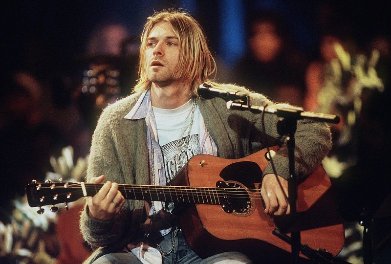 Kurt Cobain of Nirvana during the taping of MTV Unplugged at Sony Studios in New York City on November18, 1993   Photo: Getty Images