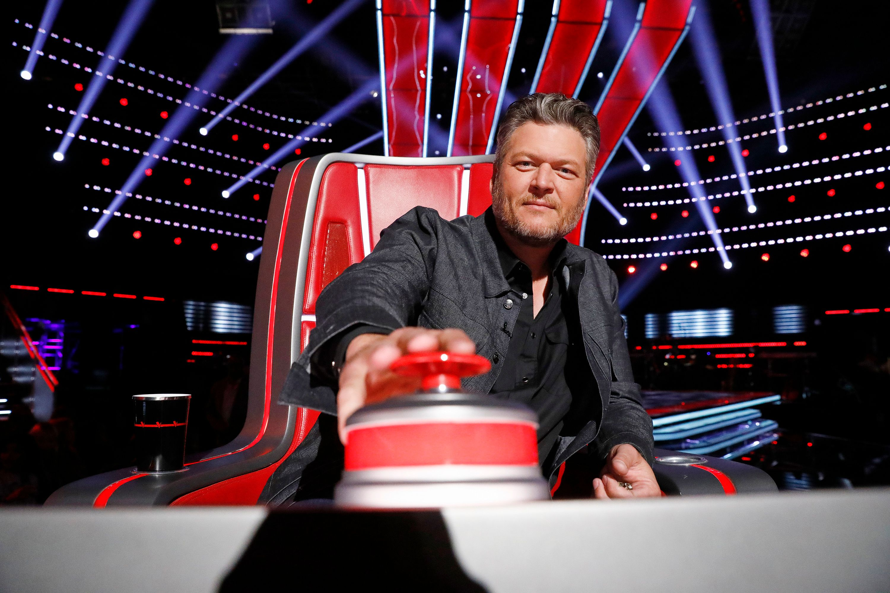 """Blake Shelton at """"The Voice"""" season 18 """"Blind Auditions"""" on October 17, 2019 