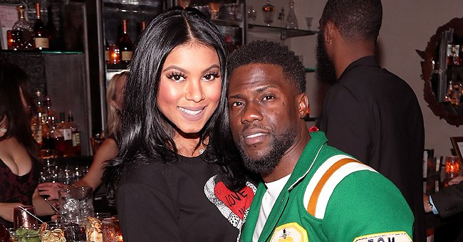 Kevin Hart & His Wife Eniko Melt Hearts Posing at Home with Their Cute Kids in Matching Pajamas