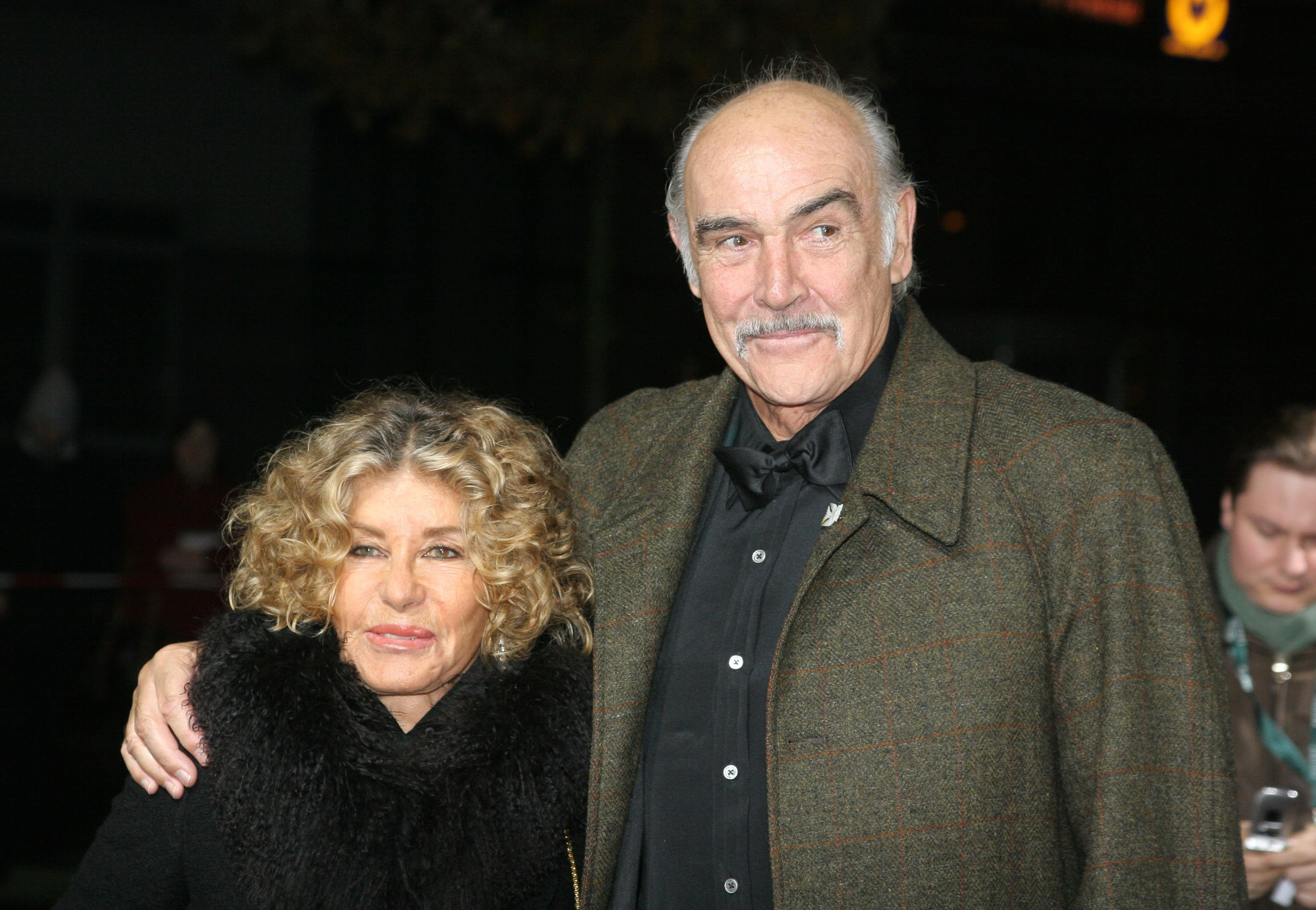 Sean Connery and wife Micheline Roquebrune attend the European Film Awards 2005 on December 3, 2005, in Berlin, Germany. | Source: Getty Images.