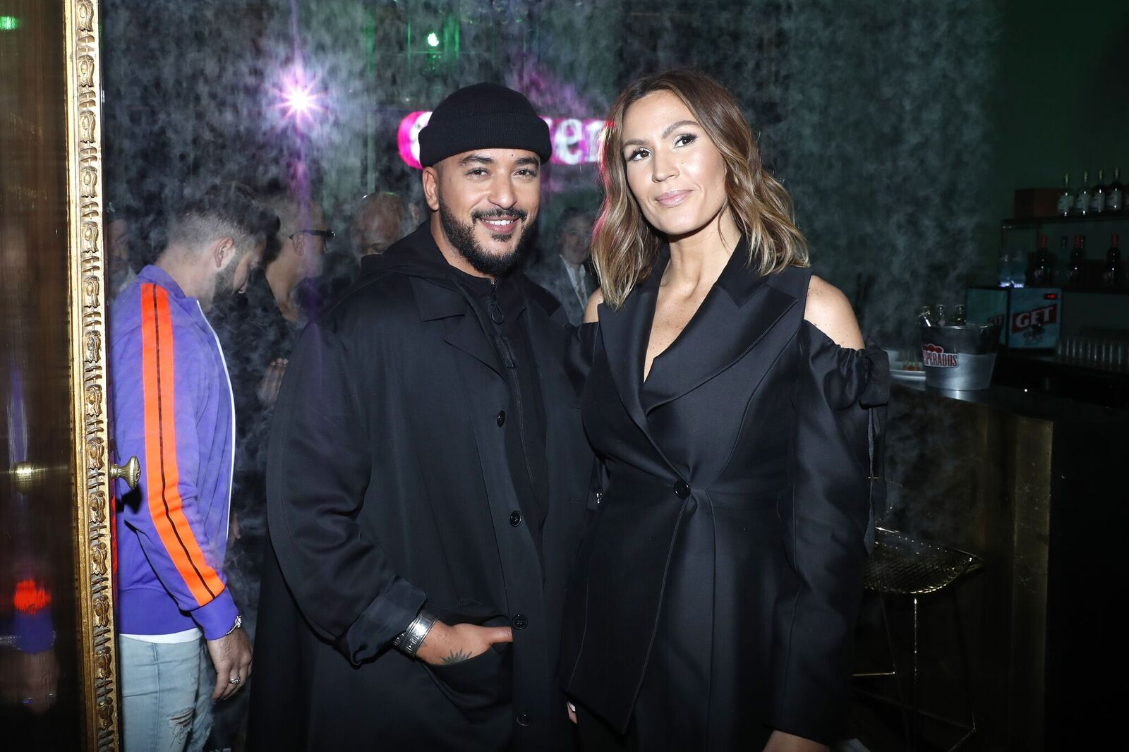 "Slimane et Vitaa assistent au Photocall ""Je ne suis pas un rappeur"": Capsule Collection Launch Party le 11 avril 2019 à Paris, France. 