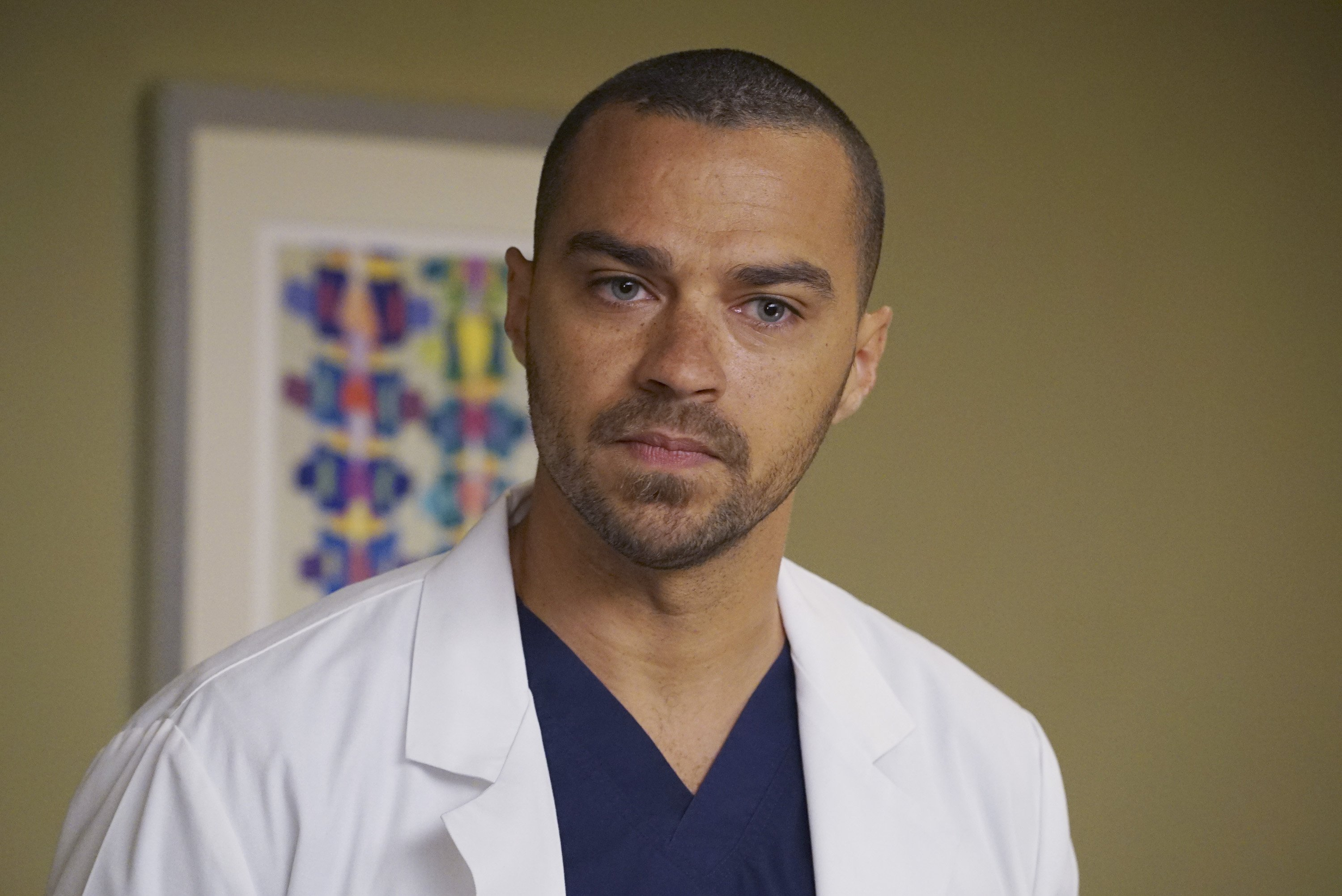 """Jesse Williams as Dr. Jackson Avery on an episode of """"Grey's Anatomy,"""" 2016. 