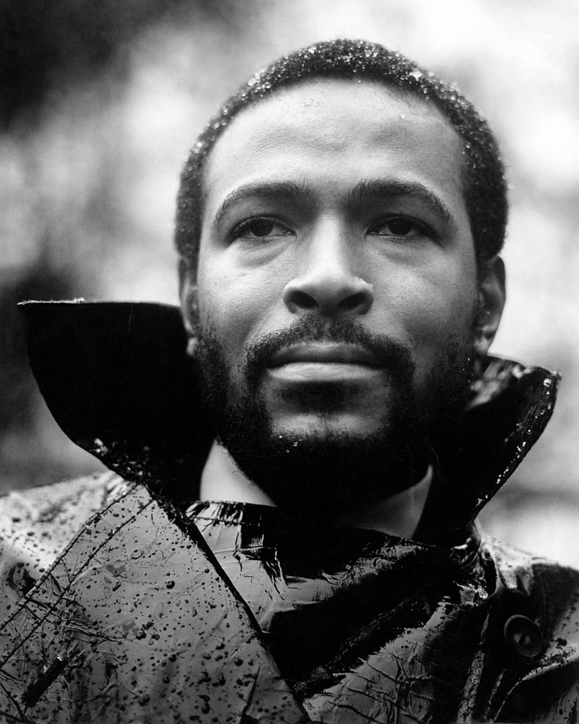 """R&B singer Marvin Gaye poses for a portrait session for his album """"What's Going On"""" which was released on May 21. 1971. 