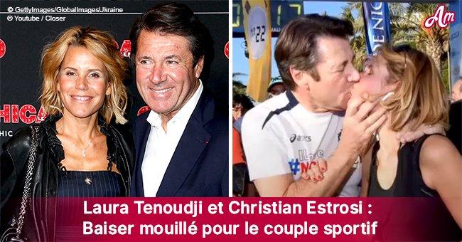 Un tendre baiser entre Christian et Laura Tenoudji capturé par les caméras après une course sportive