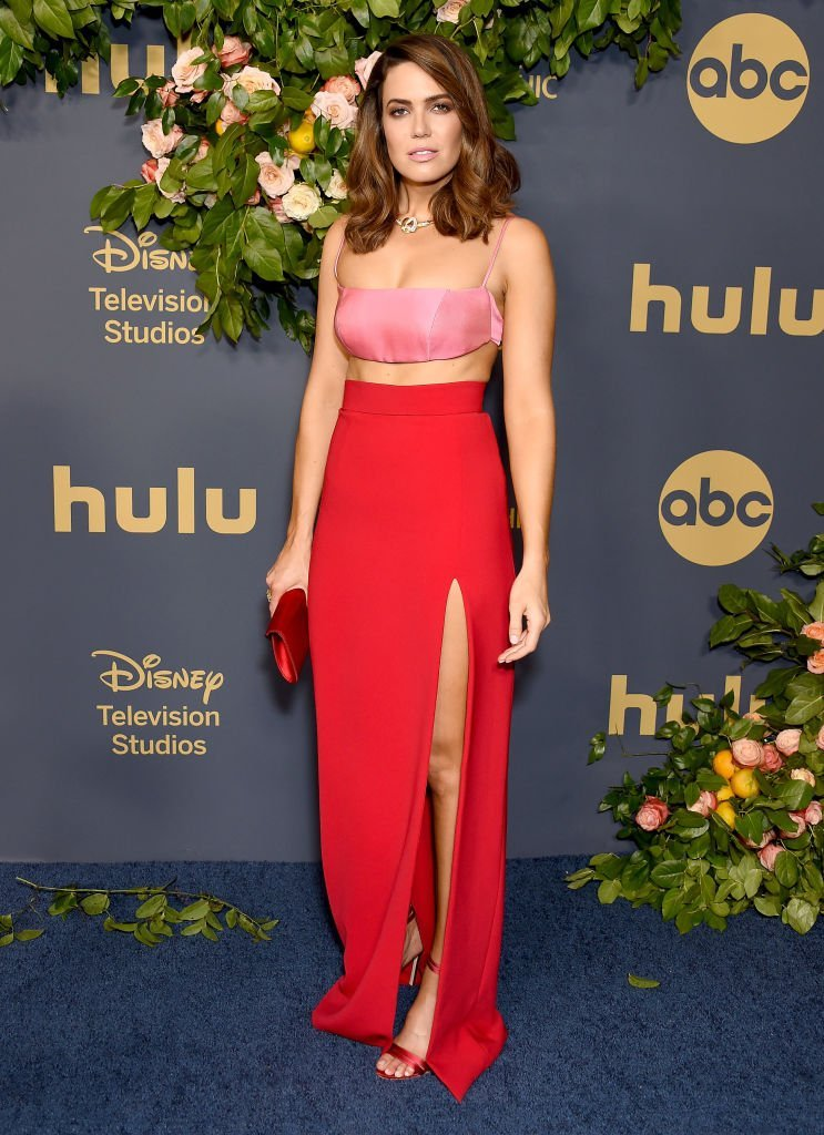 Mandy Moore arrives at the Walt Disney Television Emmy Party | Getty Images