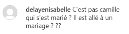 Photo : Commentaires sur la photo de Camille Lacourt sur Instagram