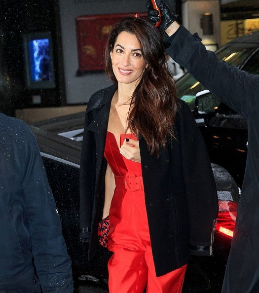 Amal Clooney is seen on February 20, 2019 in New York City | Photo: Getty Images