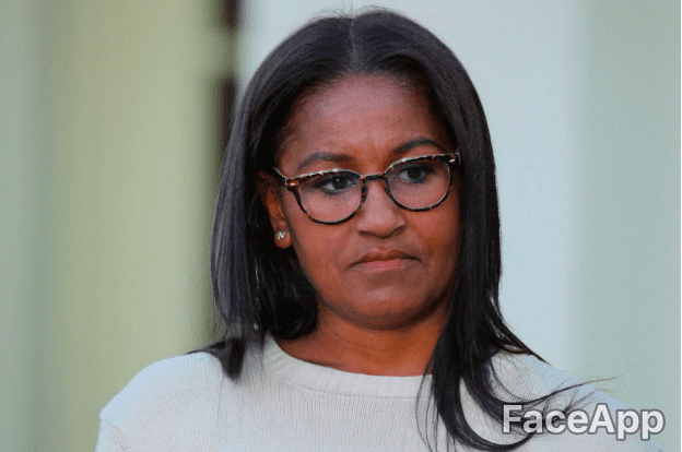 Sasha Obama | Source : GettyImages / FaceApp