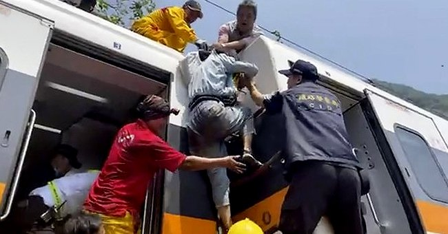 Train Falls off a Cliff and Crashes into Truck in Taiwan – See Heartbreaking Details of the Incident
