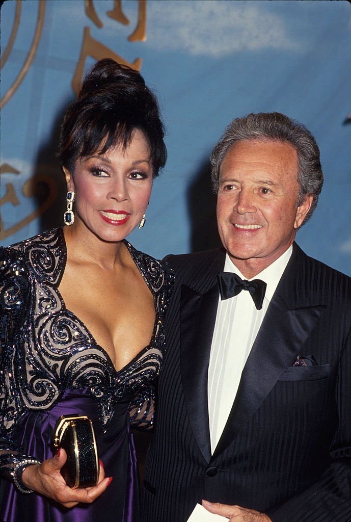 Actress Diahann Carroll and husband, singer Vic Damone on  January 01, 1990 | Photo: Getty Images