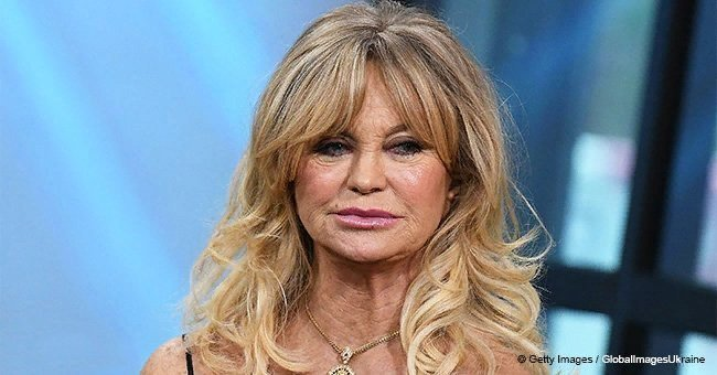 Goldie Hawn has never been afraid of showcasing her cleavage in a cold shoulder dress