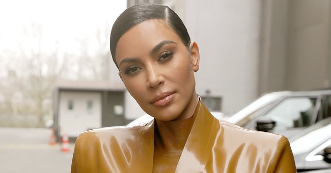 Kim Kardashian Looks Natural as She Enjoys Pizza Party with Daughter North & Son Saint (Photos)