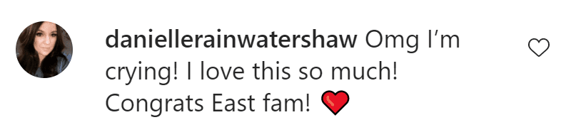Fans are excited following the birth of the new East baby.   Source: Instagram/Shawn Johnson