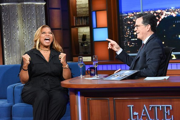 Stephen Colbert and guest Queen Latifah during Monday's October 28, 2019   Photo: Getty Images