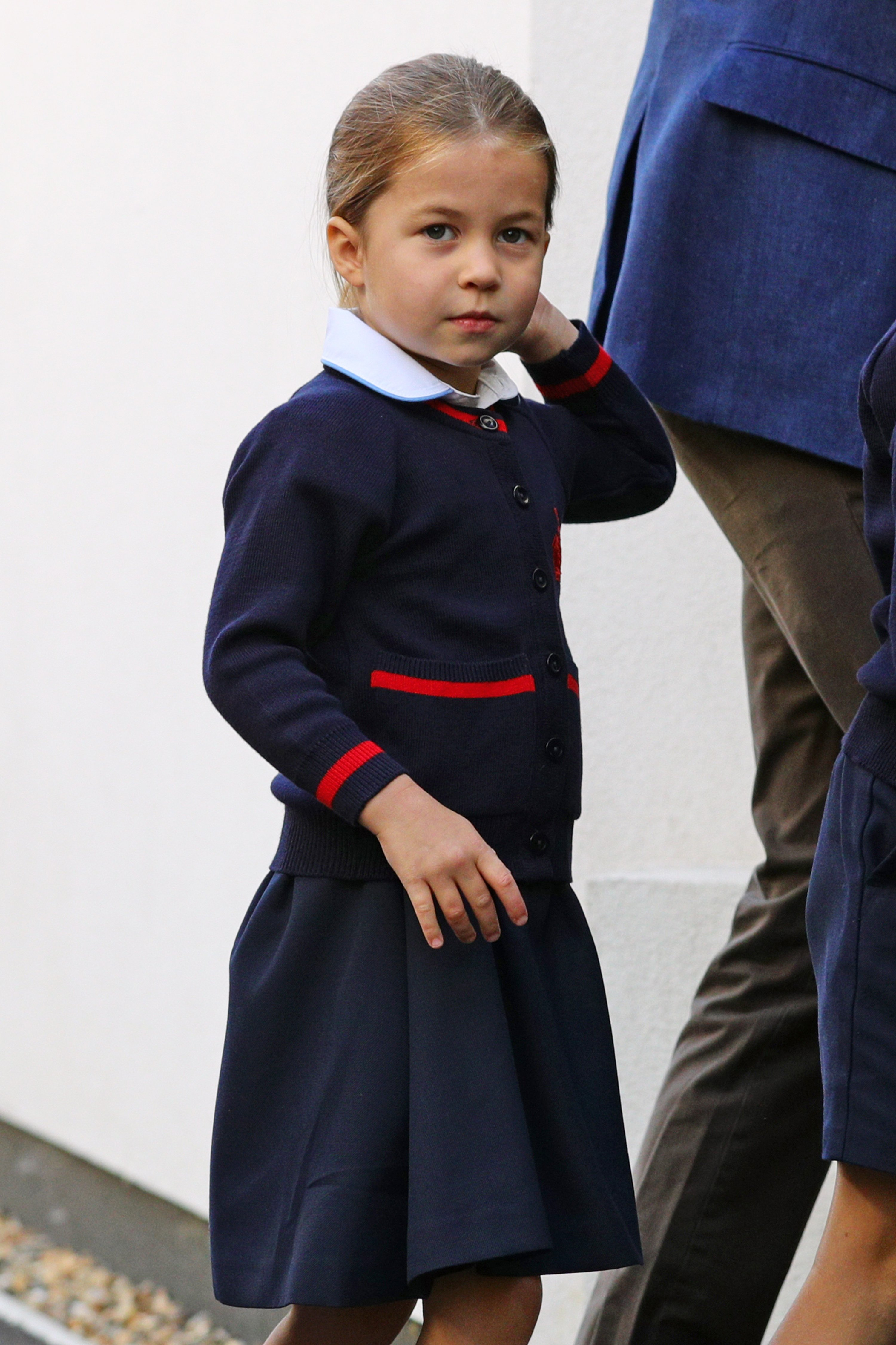 Princess Charlotte arrives for her first day of school at Thomas's Battersea in London on September 5, 2019 | Photo: GettyImages