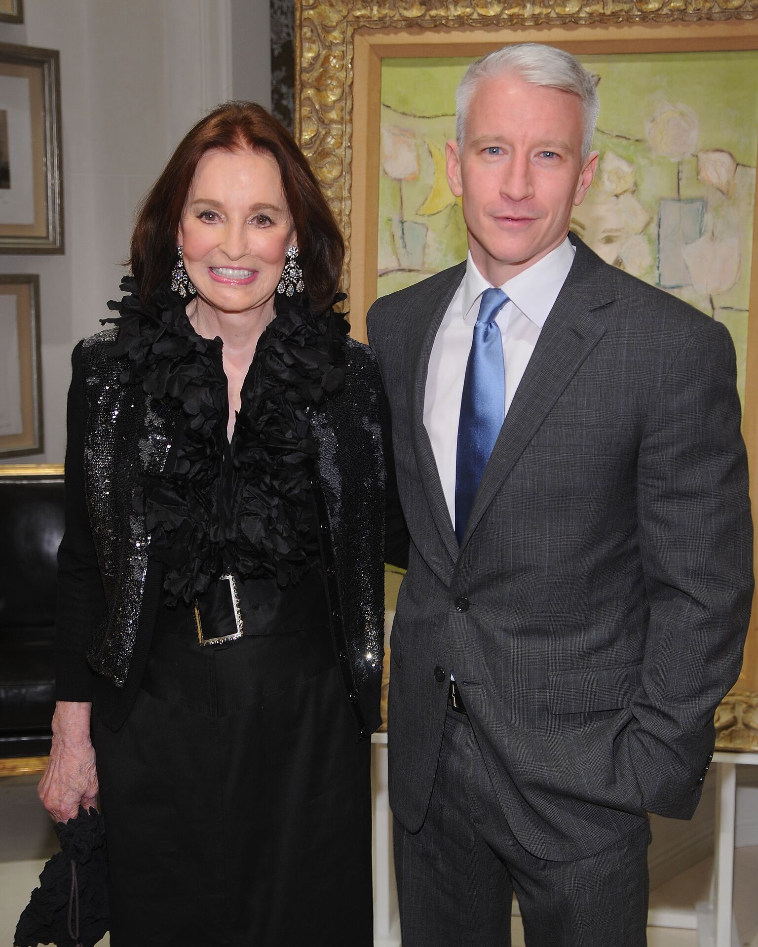"Gloria Vanderbilt and Anderson Cooper at the launch party for ""The World Of Gloria Vanderbilt"" 