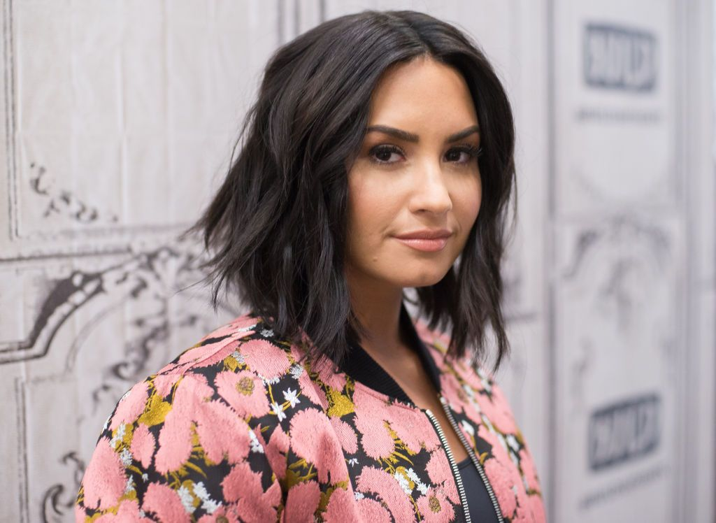 """Demi Lovato at Build Series to discuss """"Smurfs: The Lost Village"""" at Build Studio on March 20, 2017 in New York City 