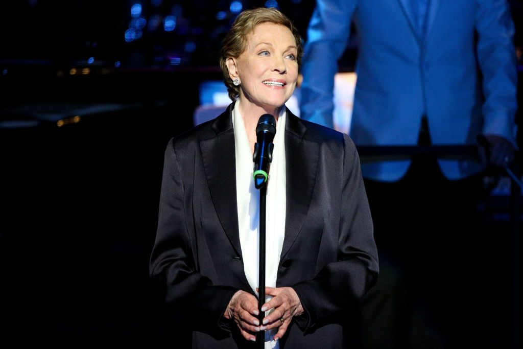Actress Julie Andrews speaks at Mancini Delivered - A Musical Tribute To Ginny And Henry Mancini at Wallis Annenberg Center for the Performing Arts on April 1, 2017 | Photo: Getty Images