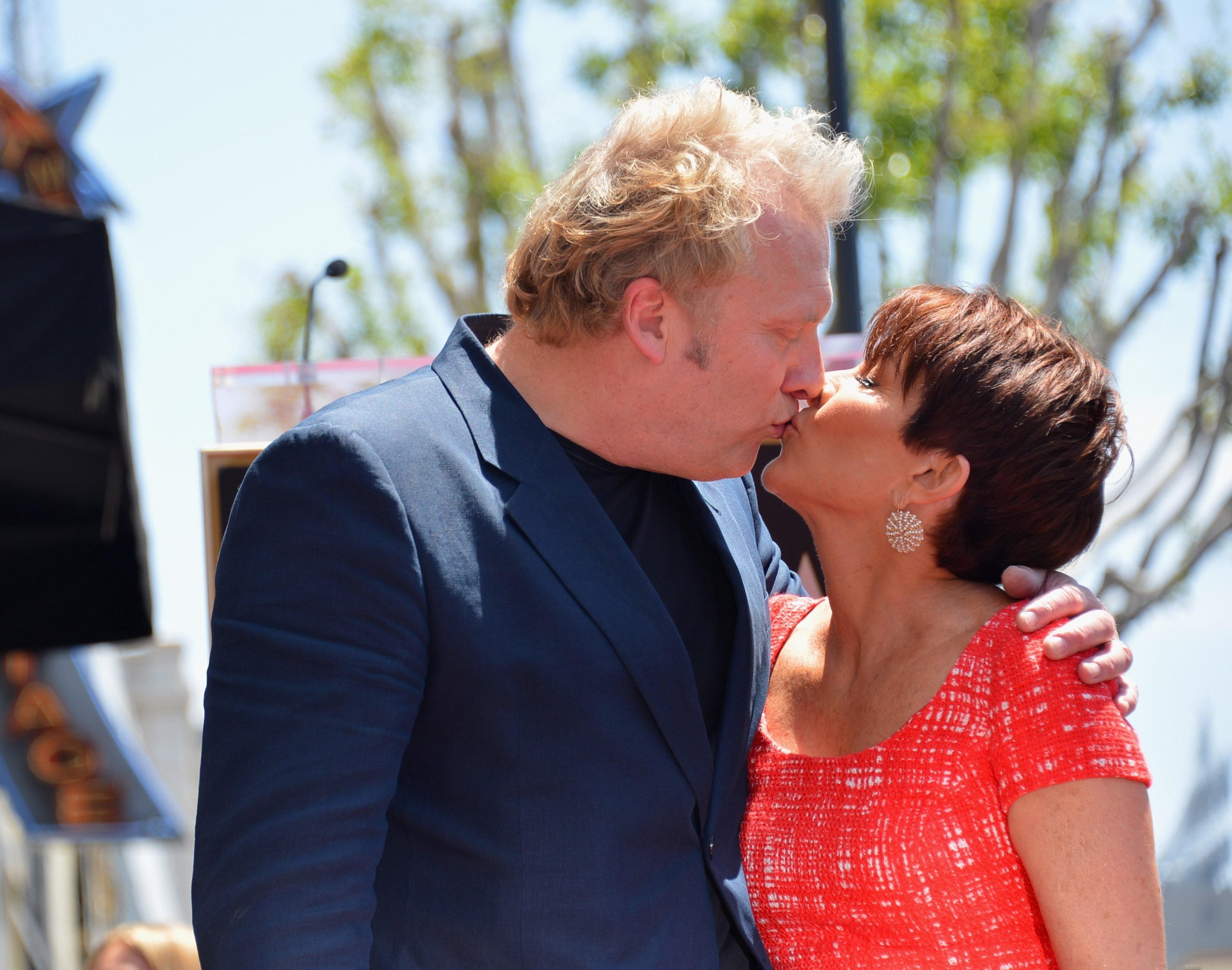 David Hunt and actress Patricia Heaton attend a ceremony honoring Patricia Heaton with the 2,472nd star on the Hollywood Walk of Fame on May 22, 2012. | Source: Getty Images