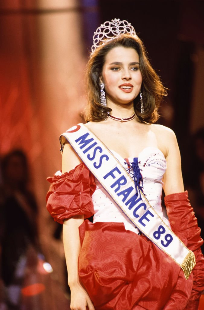 Peggy Zlotkowski, lors de l'élection de Miss France 1989 à Paris le 30 décembre 1989, France. | Photo : Getty Images.
