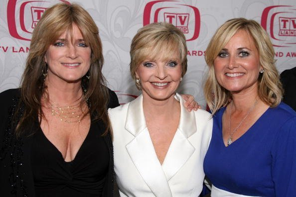 Actresses Susan Olsen, Florence Henderson and Maureen McCormick pose backstage at the 5th Annual TV Land Awards held at Barker Hangar on April 14, 2007, in Santa Monica, California. | Source: Getty Images.