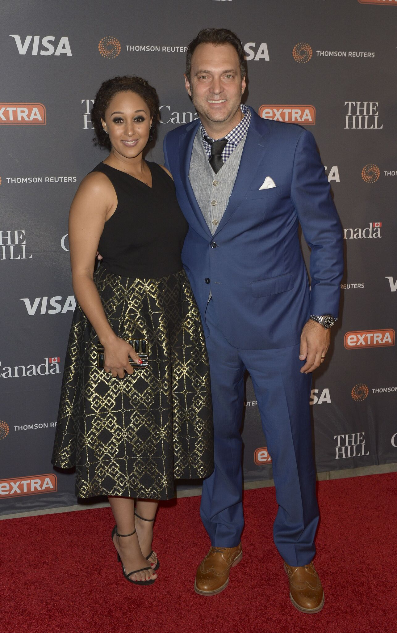 Tamera Mowry and Adam Housley at the White House Correspondents' Association Dinner Weekend Party in April 2016. | Photo: Getty Images