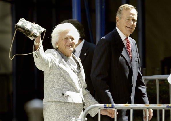 Le président George H.W. Bush et Barbara Bush, le 2 septembre 2004,  New York City | Getty Images