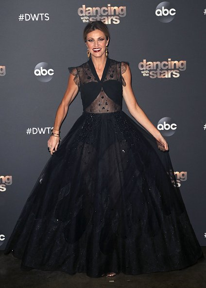 "Erin Andrews poses at ""Dancing with the Stars"" Season 28 at CBS TelevisIon City on October 28, 2019 in Los Angeles, California 