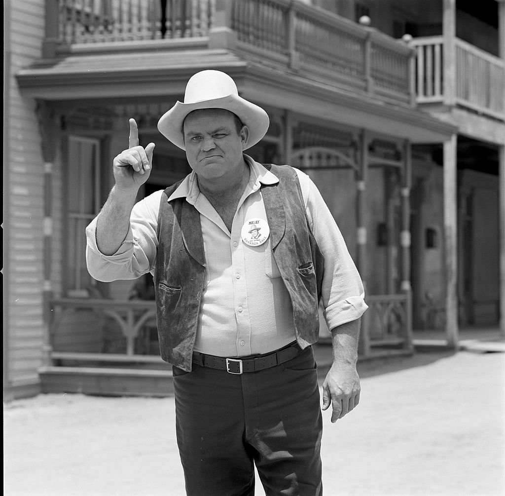 Dan Blocker on Rod and Custom Cover Photo Shoot on June 02, 1966   Photo: Getty Images
