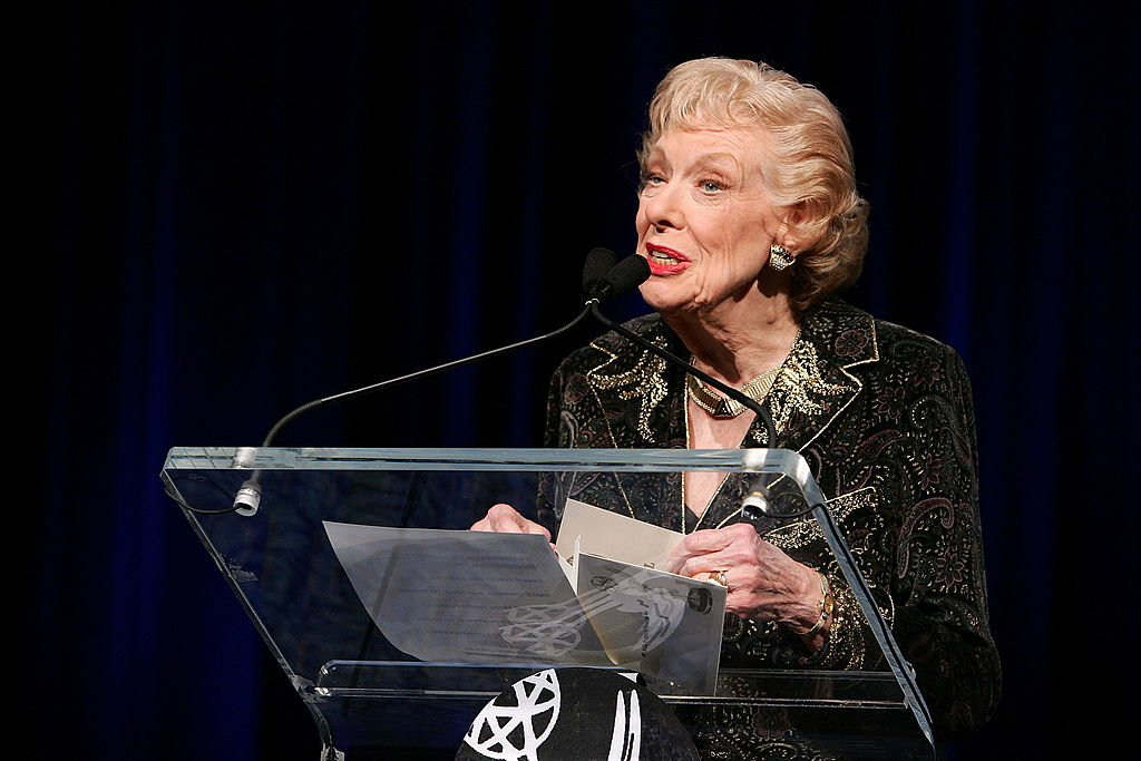 Joyce Randolph speaks onstage at the 50th Annual New York Emmy Awards Gala on April 1, 2007 in New York City. | Photo: Getty Images