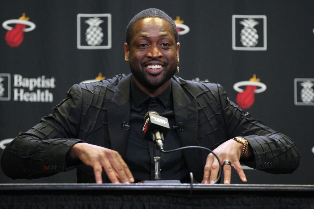Dwayne Wade at a press conference after his jersey retirement ceremony on February 22, 2020 in Miami, Florida | Photo: Getty Images