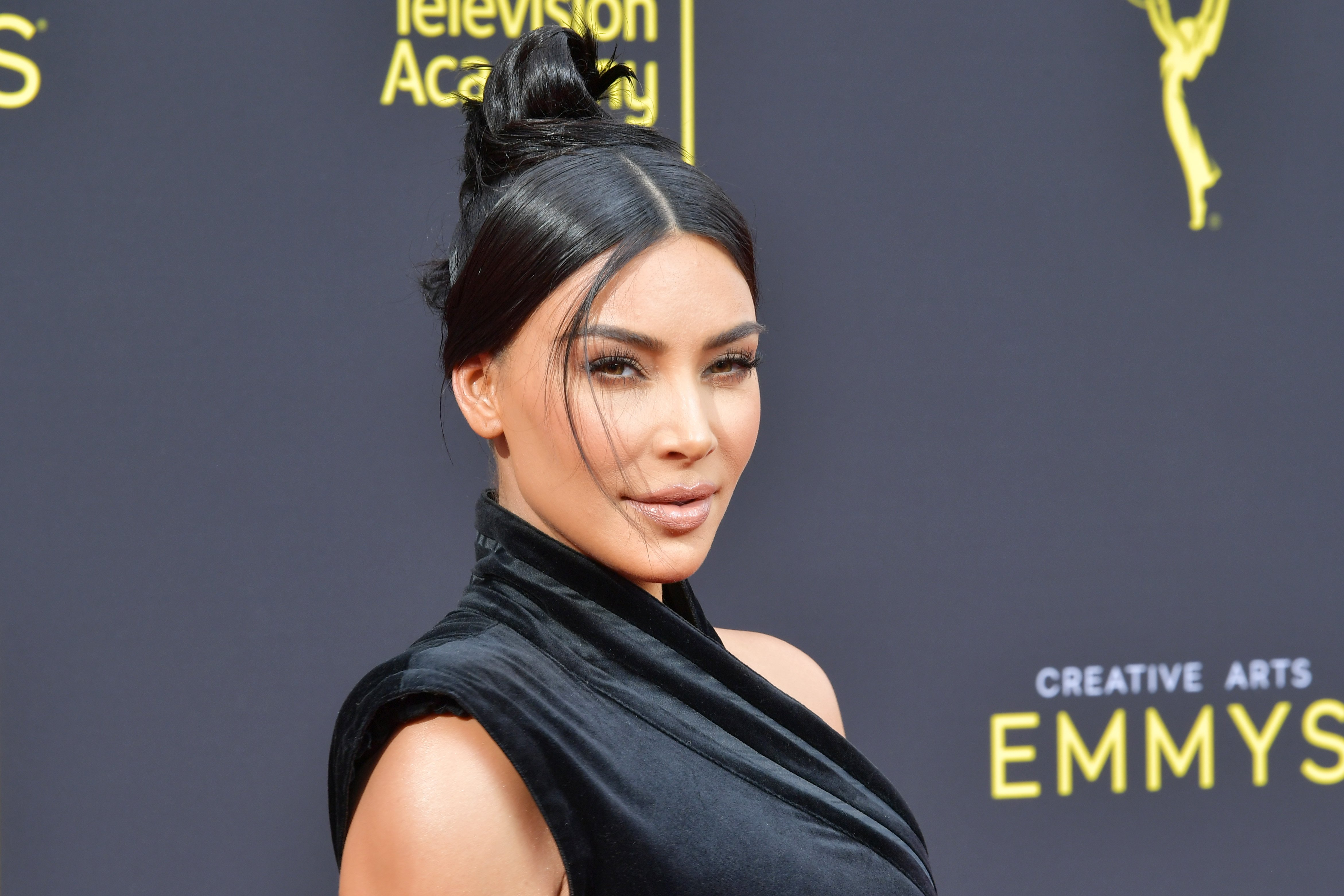 Kim Kardashian West at the 2019 Creative Arts Emmy Awards in Los Angeles on September 14, 2019   Photo: Getty Images