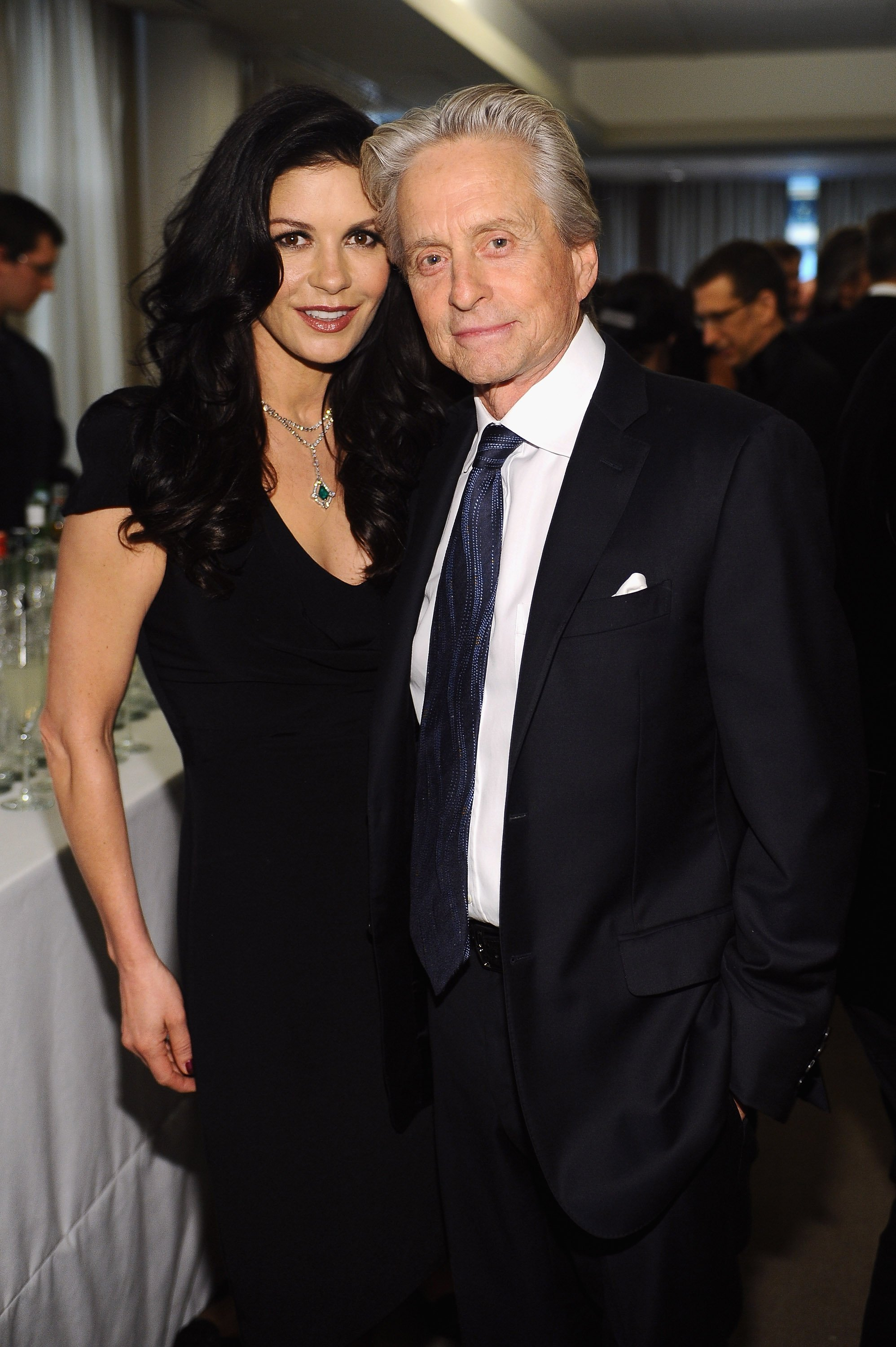 Michael Douglas and Catherine Zeta-Jones attend the reception of The Film Society of Lincoln Center's 40th Chaplin Award Gala | Source: Getty Images