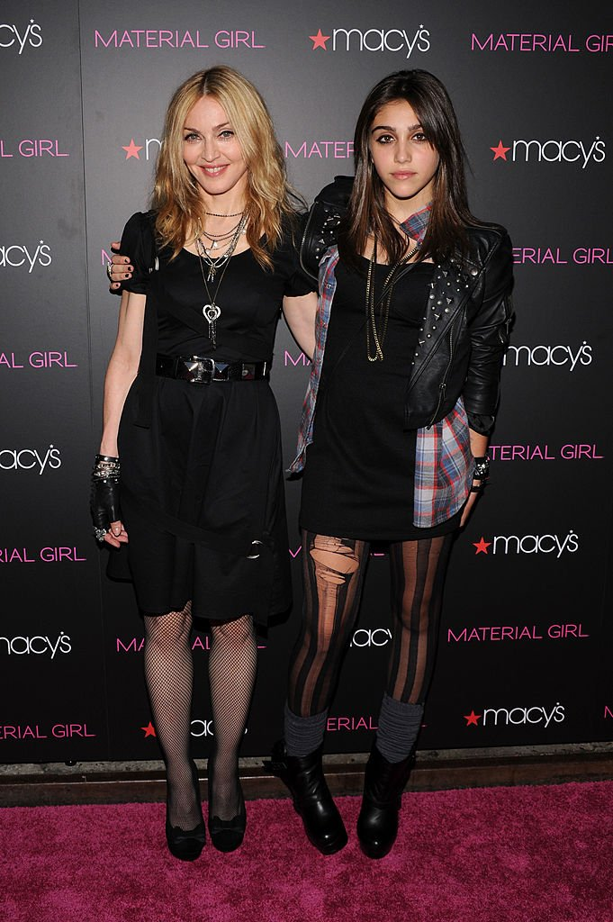 """Madonna and daughter Lourdes Leon attends the """"Material Girl"""" collection launch at Macy's Herald Square on September 22, 2010 in New York City. 