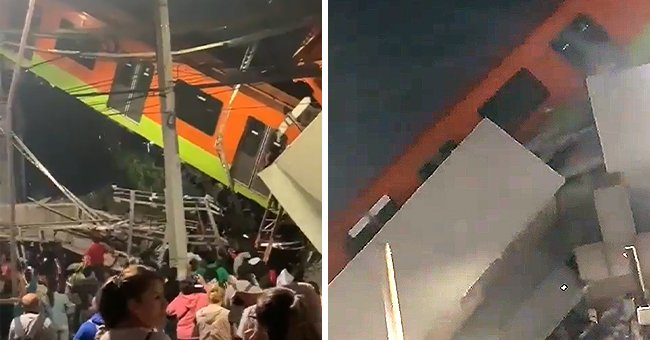 Mexico Overpass Falls with Train on It Leaving 13 People Dead and around 70 Injured