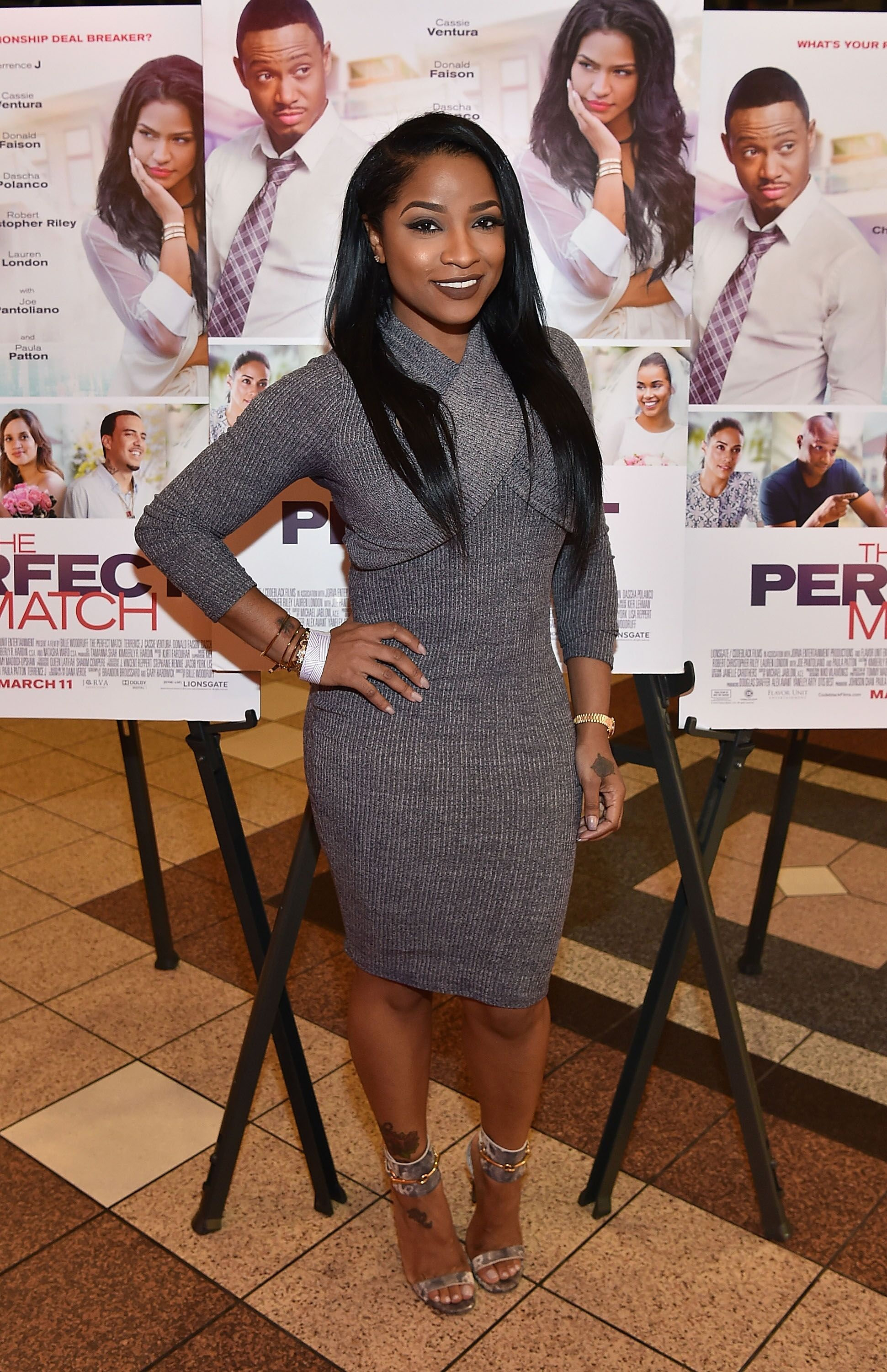 "Antonia ""Toya"" Johnson attends the ""The Perfect Match"" movie premiere 