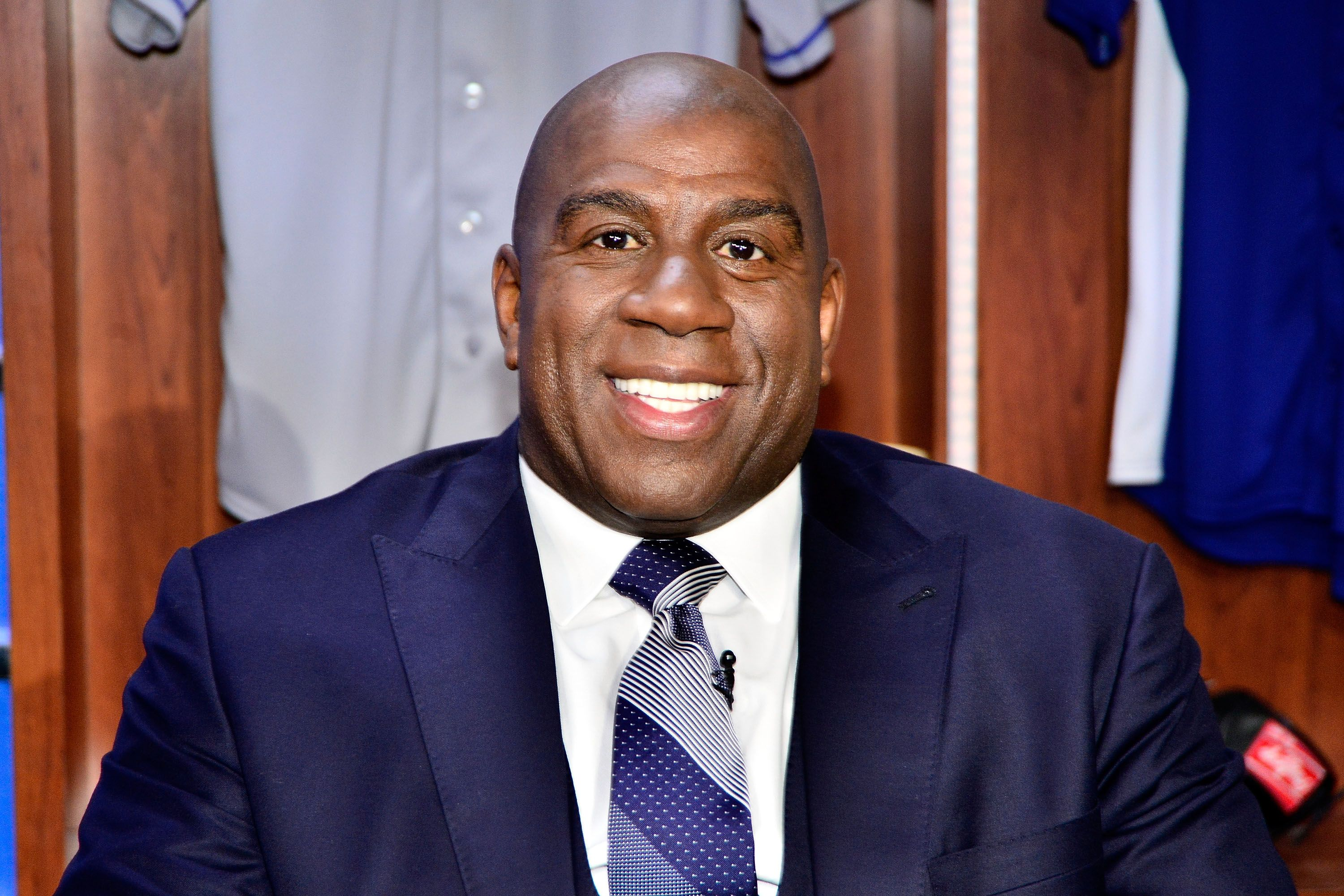 Earvin 'Magic' Johnson attends the launch of SportsNet LA on February 25, 2014  | Photo: Getty Images
