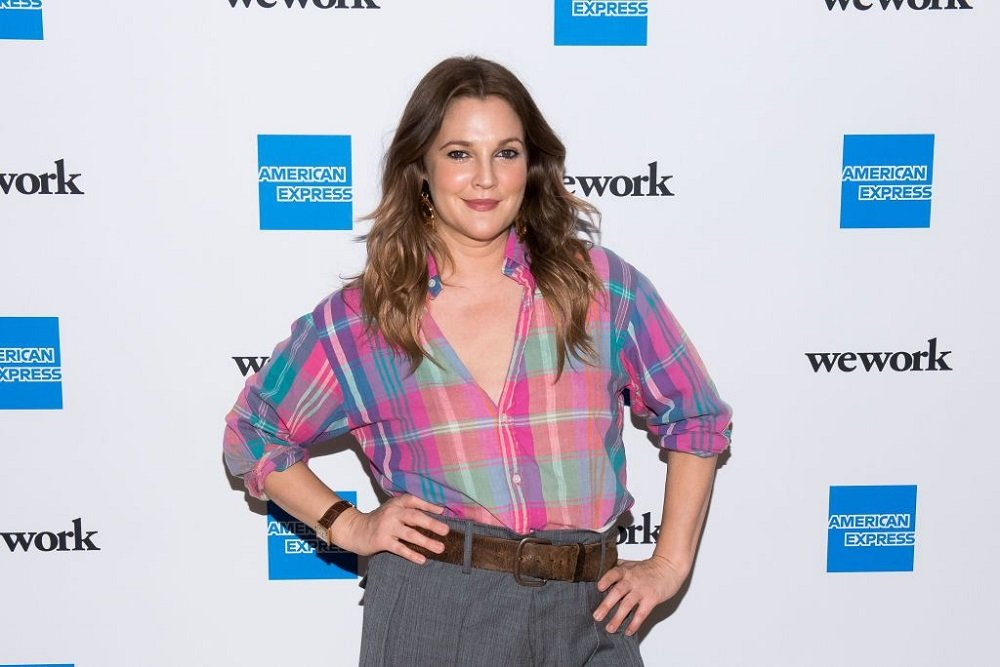 """Drew Barrymore attending American Express and WeWork """"For The Love Of Collaboration"""" in New York City in May 2019. 